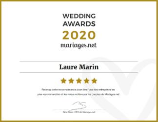 Laure Marin distinction wedding-awards-2020